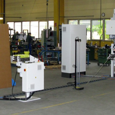 Production line for manufacturing steel grating bars
